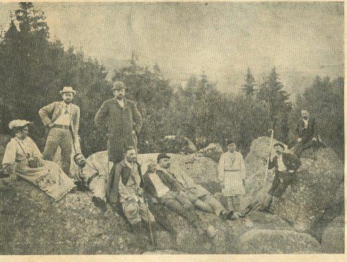 Алеко при първото организирано изкачване на Черни връх през 1894 година