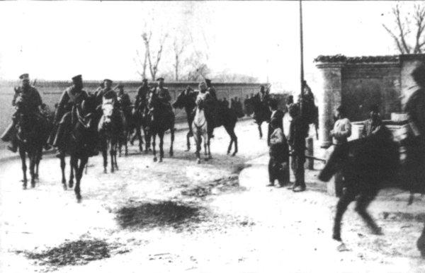 Лейбгвардейския полк влиза в превзетия град