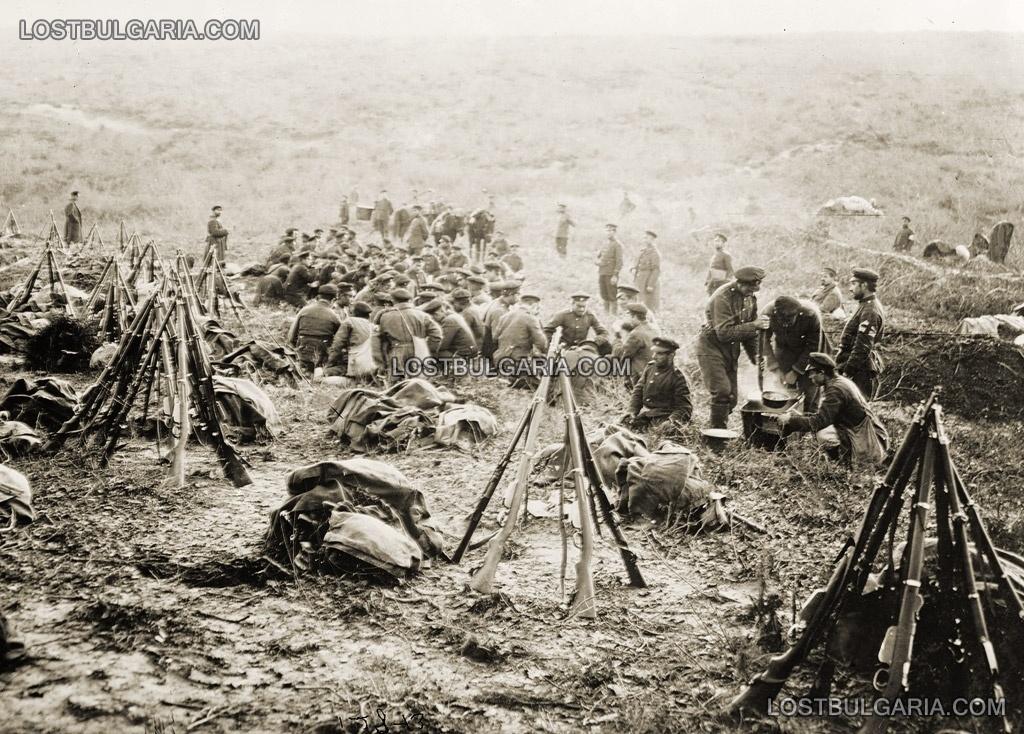 Вечеря на позицията край Чаталджа, 1912 г.