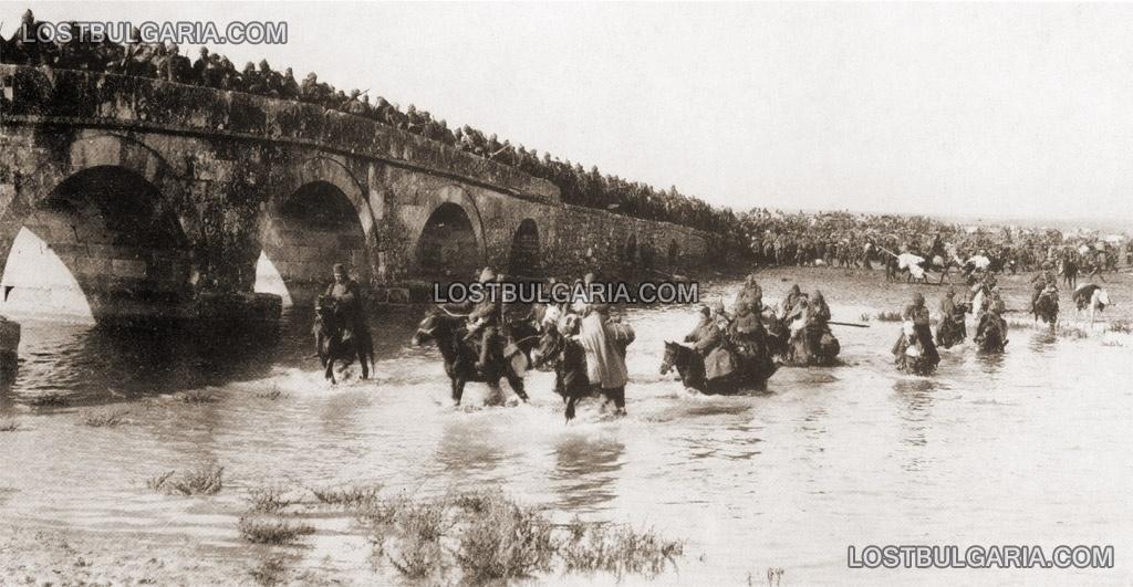 Турската армия отстъпва в безредие към Чаталджа, ноември 1912 г.