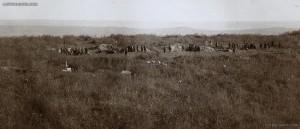 Позиция на българската обсадна артилерия пред Одрин, март 1913 г.; lostbulgaria.com