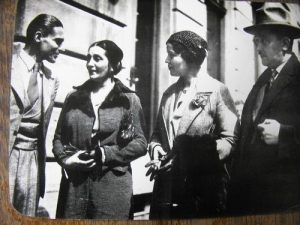 Дора Габе, Елисавета Багряна и Боян Пенев (Боян Пенев е мъжът вдясно)