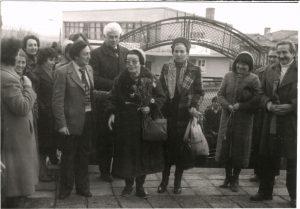 Елисавета Багряна на посещение в училището в село Недялско, 1983 година