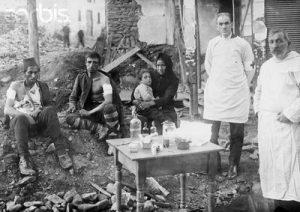 Превързочен пункт близо до Петрич, в който бягащи българи са намерили закрила