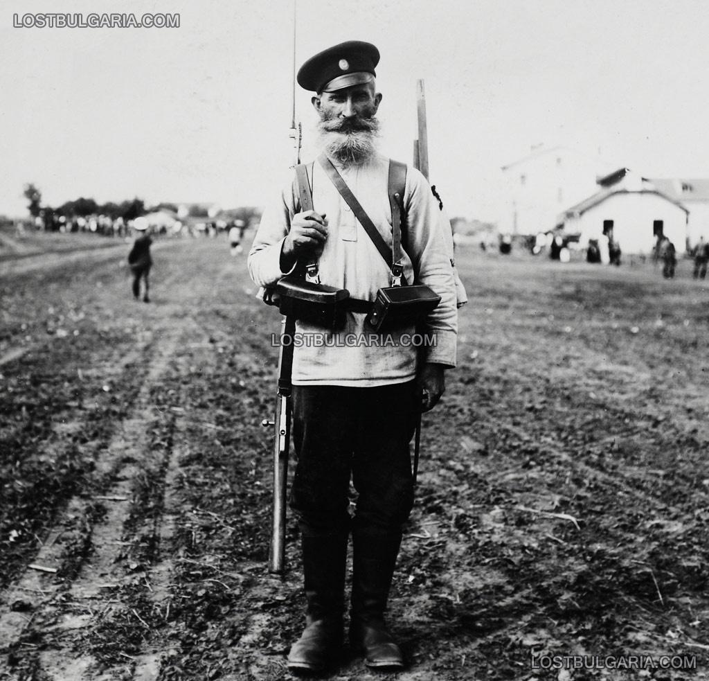 Български войник - опълченец, доброволец в Първата световна война
