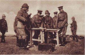 Ген. Тошев и Мустафа Хилми Коджахарзем паша наблюдават сражение около Меджидия, окръг Кюстенджа