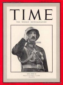 Н.В.Цар Борис III на корицата на списание ТАЙМ, 20 януари 1941 г.; снимка: lostbulgaria.com