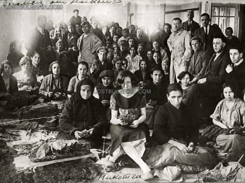 """Тютюневата фабрика, първообраз на фабриката от романа """"Тютюн"""" на Димитър Димов, 30-те години на ХХ век"""