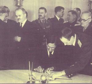 одписване на примирието със СССР, САЩ и Великобритания, Москва, 28 октомври 1944 г.