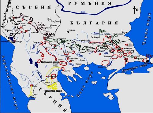 Балканска война - карта