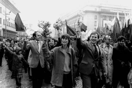 1 май 1986 година. Манифестация под Чернобилския дъжд.