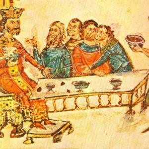 Крум пирува след победата над император Никифор