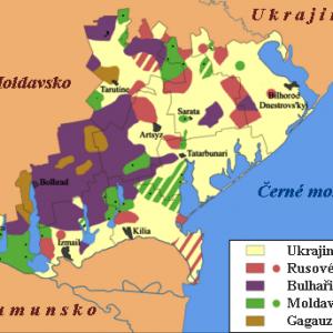 Етническа карта на Южна Бесарабия