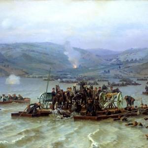 Руско - турска война - Десантът при Свищов, художник Николай Дмитриев-Оренбургски