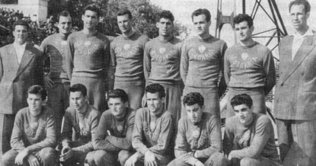 1957 година Българският национален отбор по баскетбол - вицеевропейски шампион