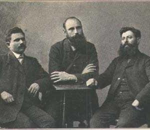 Христо Чернопеев, Яне Сандански и Кръстьо Българията