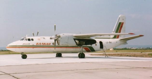 Самолетът изпълняващ курса София-Варна
