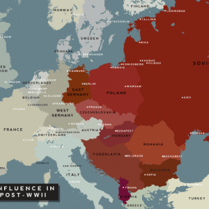 Карта на двуполюсна Европа