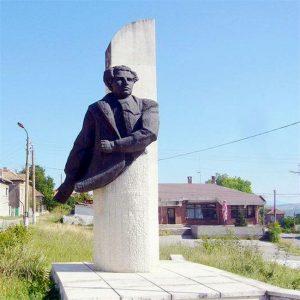 Паметникът на Горуня в родното му село Горна Кремена