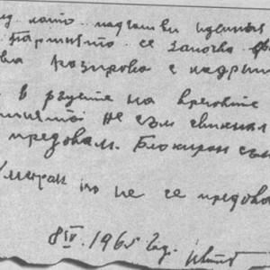 Предсмъртното писмо на Горуня