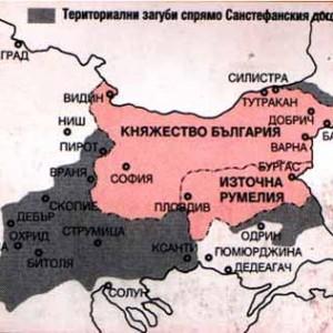 граници на България според Берлинския договор