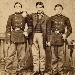 Васил Левски, брат му Христо Кунчев и Христо Иванов – Големия, Белград, 1867 г. снимката е взета от: vasil-levski.bg