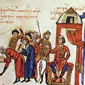 Хан Омуртаг, изобразен на миниатюра от Мадридския препис на Хрониката на Йоан Скилица.