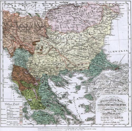 Етнографска карта на Балканите на Ами Буе