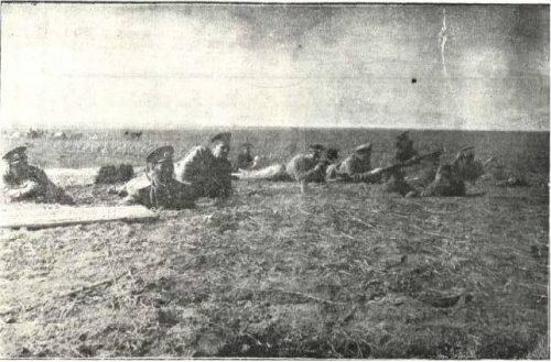 Кубадинските позиции. Щаб на дивизия наблюдава отстъплението на неприятеля.