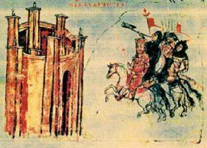 Дръстър в средновековна миниатюра
