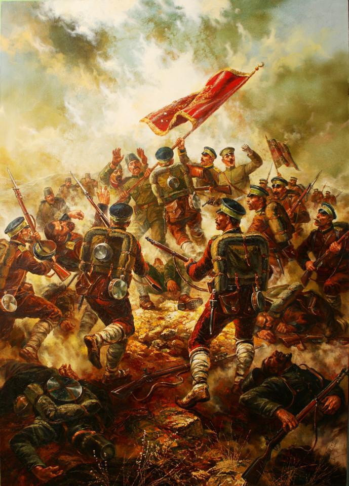 Пленяване на турско знаме - художник Васил Горанов