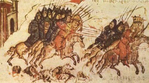 Победата на цар Иван Асен при Клокотница - Манасиева хроника
