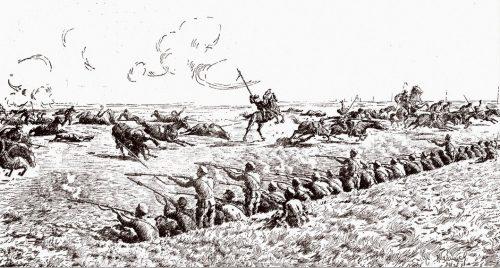Приморци отблъскват атаката на руската кавалерия