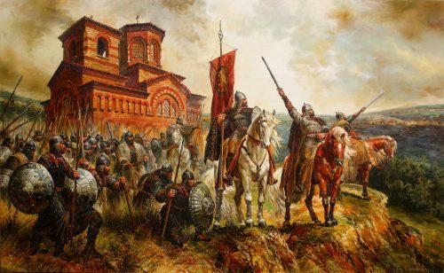 Въстанието на Асен и Петър - художник: Васил Горанов