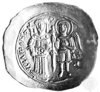 Монета на Исак II Ангел