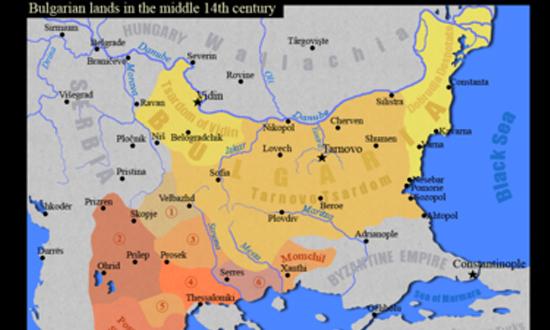 Карта на България от XIV век