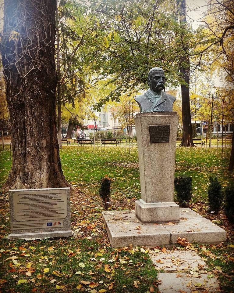 Паметник на Душо Хаджидеков в град Пловдив. Снимка: Георгия Кинева