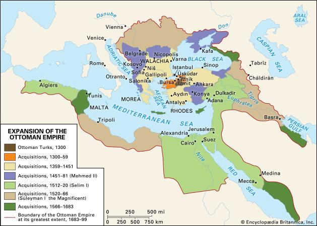 "Османското нашествие и последвалото го разширение ® Енциклопедия ""Британика"""