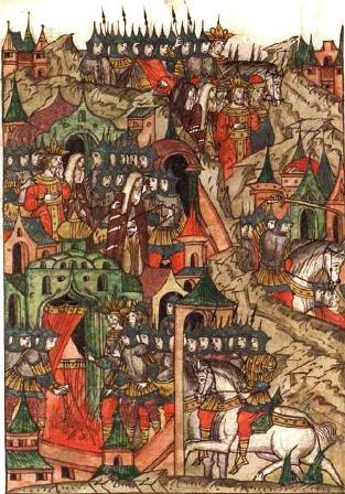 Превземането на Търновград от турците – миниатюра от 1550г.