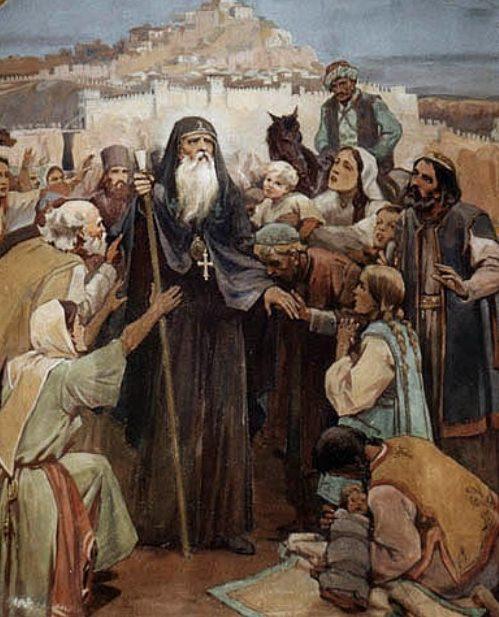 Патриарх Евтимий се прощава с търновци